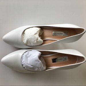 INC Zitah White Leather Heel- Size 9M